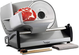 Electric Blade Meat Slicer Deli Food Cheese Ham Home Kitchen Cutter Machine Tool