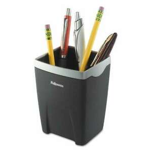 Fellowes Office Suites Divided Pencil Cup Plastic 3 1 16 X 3 1 043859471201