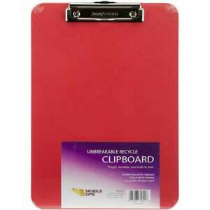 Unbreakable Recycle Clipboard 1 pkg Red 085288616228
