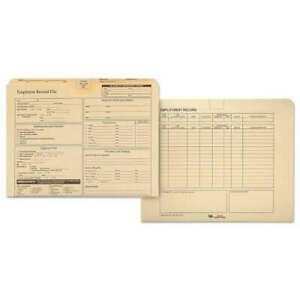 Quality Park Employee Record Folder Top Tab Letter Manila 20 085227699985