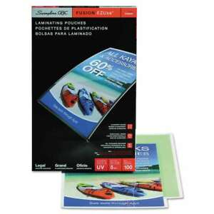 Swingline Gbc Ezuse Thermal Laminating Pouches 5 Mil 9 X 14 1 033816032224