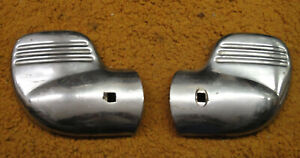 1940 Ford Car Pickup Pair Used Accessory Bumper End Guards Wing Tips