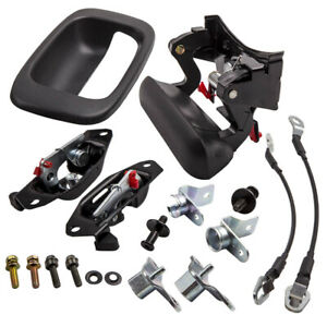 Handle Hinge Tail Gate Latch Striker Cable Lock Kit For silverado Sierra 99 07