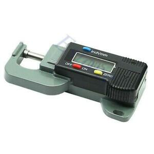 Portable Precise Digital Thickness Gauge Meter Tester Micrometer 0 To 12 7mm
