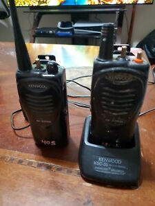 Lot Of 2 Kenwood Tk 3202l Uhf Radio Talkie Radio