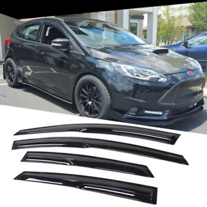 Fits 2012 2018 Ford Focus Mugen Style Acrylic Window Visors 4pc