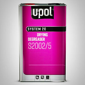 U pol Anti Silicone Solvent Slow Degreaser 5 Litre S2002 Panel Wipe Basecoat 2k