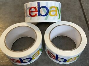 Official Ebay Brand Logo Packaging Tape 3 Rolls Shipping Packing Box Sealing New