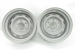 1973 87 Chevy Gmc Truck Rally Wheels 15x7 6 Lug G10 Van 4x4 Ralley Wheel Pair