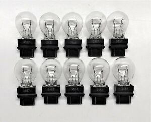 3157 10 Bulb Lot Clear Dual Filament Bulbs Lamp Bulk 10 Pack Fast Usa Ship