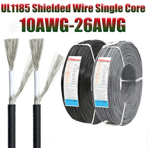Ul1185 Single Core Shielded Wire Cable 10awg 26awg Audio Wire Signal Wire