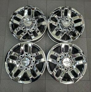 5709 Chevy Silverado 2500 3500 Chrome 18 Factory Oem Wheels 2011 2021 84397983