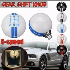 Universal Car Gear Shift Knob For Ford Mustang Gt500 White And Blue