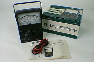 Micronta Multitester Multimeter 43 Range Volts Amps Doubler 22 214 W Leads A2