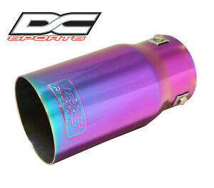 Dc Sports Bolt on Chameleon Anodized Exhaust Muffler Tip L 7 5 X Outlet 3 5
