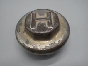 H Hupmobile Brass 1900 S 1930 s Grease Cap Wheel Center Dust Hubcap Hupp