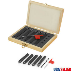 1 2 Indexable Carbide Insert Lathe Tools Set Turning Tools With Box 5pcs kit