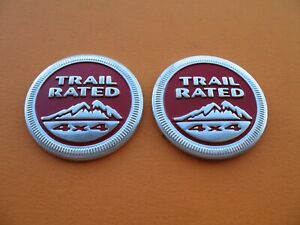 Jeep Trail Rated 4x4 Grand Cherokee Liberty Commander Compass Emblem Logo A13505