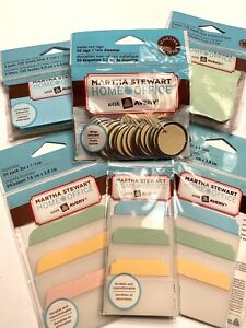 Martha Stewart Home Office Note Tabs Sticky Notes Tags Planner Office Supply Lot