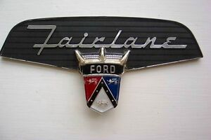 All 1956 Ford Fairlanes New Emblem Insert In Trunk Vee Sunliner Crown Victoria