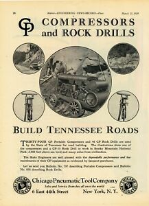 1929 Chicago Pneumatic Ad Rock Drills In Smokey Mountain National Park Tn