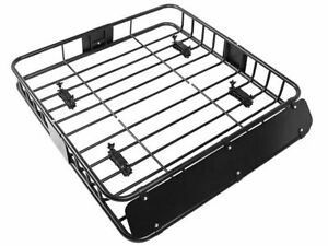 Universal Roof Rack Cargo Car Top Luggage Holder Carrier Basket Suv Blac Travel