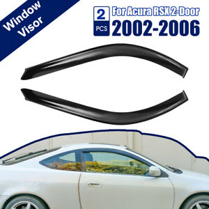 Fit 02 06 Acura Rsx Dc5 Mugen Style 3d Wavy Tinted Window Visor Vent
