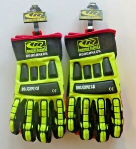 2 Pair Ringers Roughneck Ce Gloves With Kev lock Grip System Size Xx l