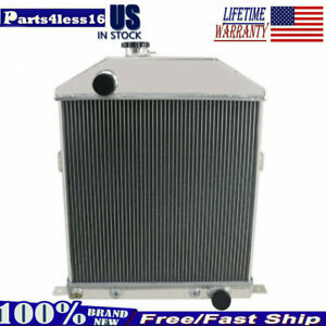 4row Aluminum Radiator For 1942 1948 Ford Mercury Deluxe Sedan Delivery Chevy V8
