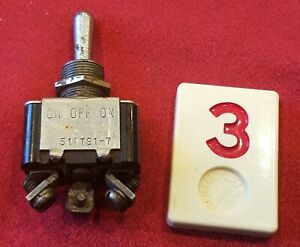 Military Standard Micro Toggle Switch Ms 35058 27 Momentary On off on R3e