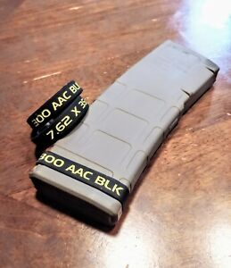 300 AAC Blackout Original Magazine ID Band. 300 BLK Mag ID 4 Pack original $12.00