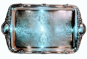 F B Rogers Silver Co Silver Plated Tray Vintage 15 X9