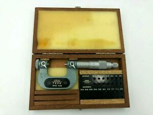 Tesa 0 25 Mm Swiss Made Micrometer Set With Case