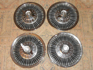 Amc Ambassador 14 Wire Wheel Covers hub Caps