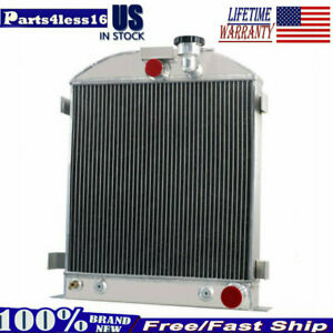 4 Row Aluminum Radiator For 1932 Ford Chopped Grill shells Chevy V8 Engine