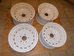 81 87 Chevy Gmc Truck Rally Wheels Pair 5 Lug Very Nice