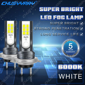 H7 Led 160w Super Bright 6000k White Headlight Bulbs Kit High Low Beam New