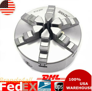 8 6 Jaw Lathe Chuck Self centering Milling For Grinding Drilling Woodworking