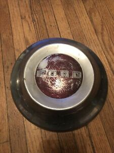 Red 1952 1953 1954 Ford Hubcap Dog Dish Vintage Poverty Cap 10 5in