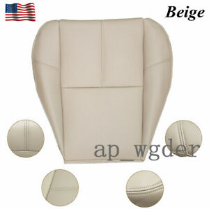 For 2007 To 2014 Chevy Silverado Driver Bottom Leather Seat Cover Beige Cashmere