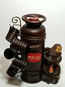 Vintage Fire Extinguisher Station House Whiskey Decanter W 5 Shot Cups Japan