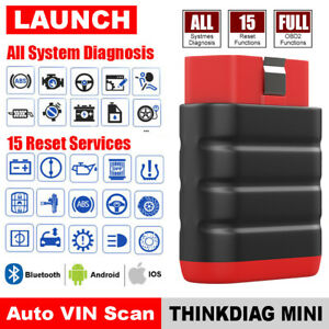 For Ios Android All System Obd2 Scanner Car Code Reader Bluetooth Srs Abs At Epb