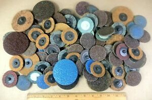 92 Pc Quick Change Sanding Disc 2 3 New Used Mix Lot Auto Shop Tools