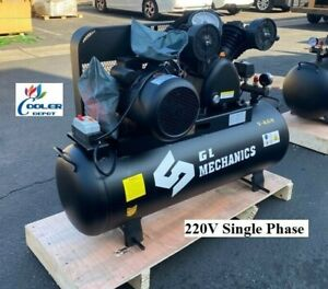 New 5 5 Hp Piston Two Stage Air Compressor Corded Electric Model 220v 1ph
