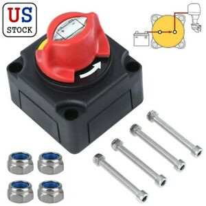 12v Car Boat Battery Isolator Disconnect Switch Cut For Marine Rv Atv Vehicles