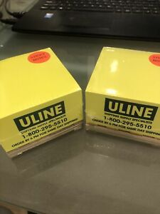 Uline Pallet Sticky Notes Yellow 2 Pk
