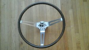 1968 1975 Corvette Simulated Wood Grain Stock Steering Wheel With Aluminum Hub