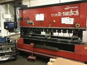 138 Ton 118 Bed Amada Fbd 1253nt Press Brake 8 Axis Amnc pc Control