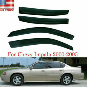 4x Window Visor Vent Rain Guard Wind Shield Tape On For Chevy Impala 2000 2005