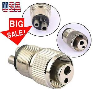 Dental 4 To 2 Hole Adapter Changer Connector For High Speed Handpiece Tubing Usa